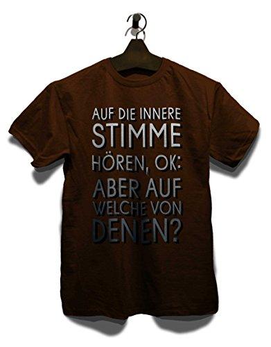 Auf Die Innere Stimme T-Shirt Braun