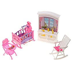 Generic Miniature Dollhouse Girl Toy For Doll Bedroom Furniture Set