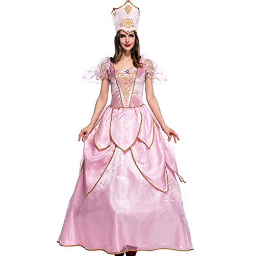 Fairy Queen Kostüm - MSSugar Halloween Kostüm Adult Pink Flower Fairy Elf Kostüm Fairy Queen Kleidung mit Rock,S