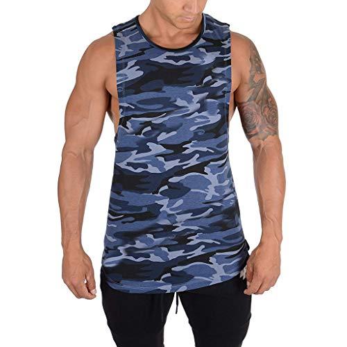 Camouflage Tank Top Herren Kanpola Muskelshirt MäNner Unterhemd Cut Off Tanktop Coole Kurzarm äRmellos T Shirt FüR Gym/Sport/Fitness/Running Bodybuilding Shirts