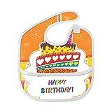Feliz cumpleaños Linda Tarjeta divertida Personalizada Suave resistente al agua resistente a olores bebés Alimentación babear baberos eructar paños bebés en general para niños de 6 a 24 meses Regalos