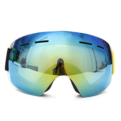 Vintage Motorrad-Schutzbrillen UV400 Snowboard Anti Fog Skibrille Unisex Dual Lens Motorrad Sportbrille