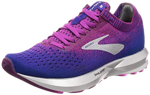 Brooks Levitate 2, Zapatillas de Running para Mujer, Multicolor (Aster/Purple/Blue 520), 37.5 EU