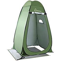 WolfWise Tente de Douche Toilette Cabinet de Changement Camping Abri de Plein Air Vestiaire Amovible Extérieure Intérieure, Vert