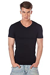 ONN NS525 Mens Pack of 2 Black V-Neck Vests (Medium)