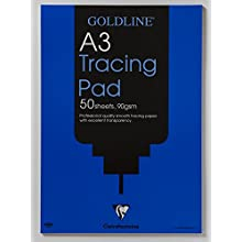 Clairefontaine Goldline Professional Tracing Pad, A3, 90 gsm, 50 Sheets