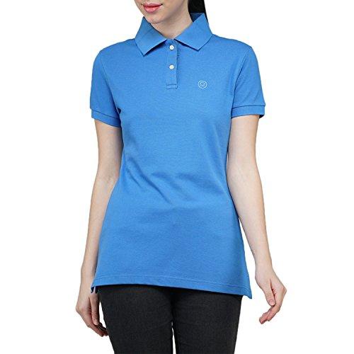 Chkokko Two button Half Sleeves tshirtz Blue Collar Cotton T shirt Regular...