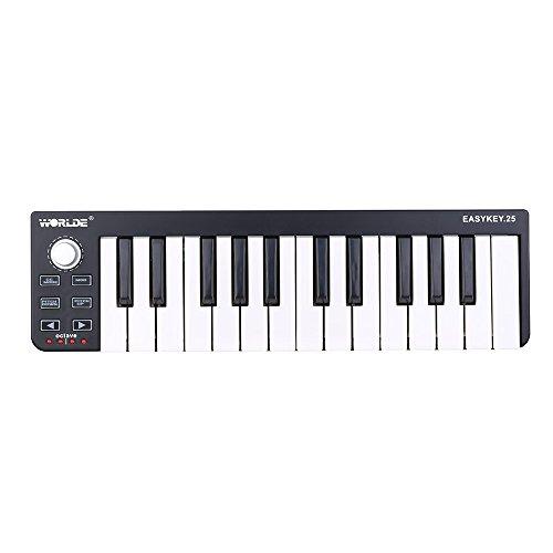 ammoon Worlde Easykey.25 Portabile Tastiera Mini 25-chiavi USB MIDI Controllore