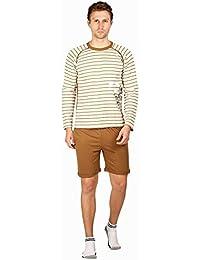 Nightwear For Men - Night Suit - Tshirt & Shorts Combo Set - Sinker Material - Brown Color - Half Sleeves - Branded...