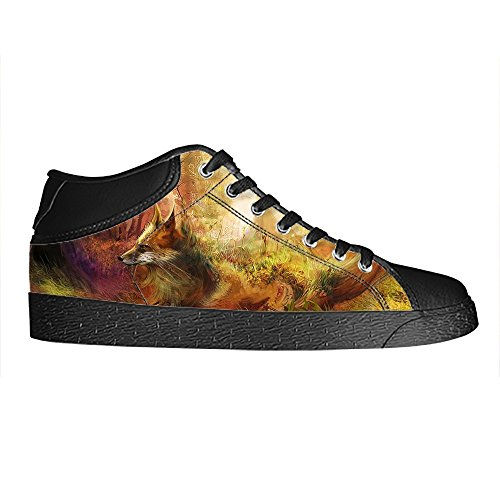 Dalliy Fox Men's Canvas shoes Schuhe Lace-up High-top Sneakers Segeltuchschuhe Leinwand-Schuh-Turnschuhe A