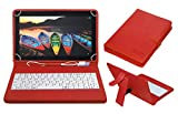 #8: ACM USB Keyboard Case for Lenovo Tb-X103f Tablet Cover Stand with Free Micro USB OTG - Red