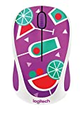 Logitech M238 Mouse Wireless, Party Collection, Cocktail, Multicolore