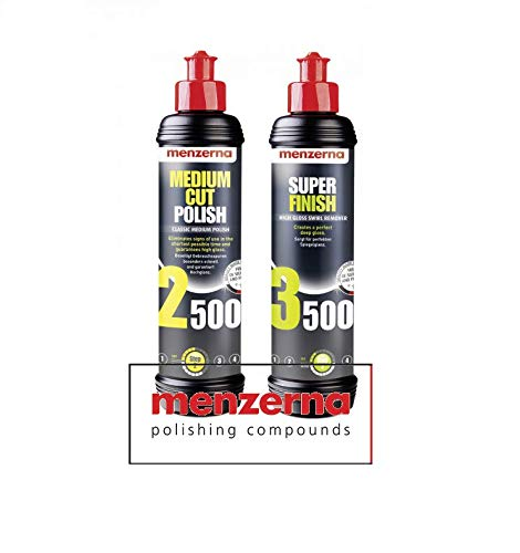 Preisvergleich Produktbild HEWADI® Menzerna Set Allroundpolitur Medium Cut Polish 2500 von Menzerna und Menzerna Super Finish 3500 Politur je. 250ml