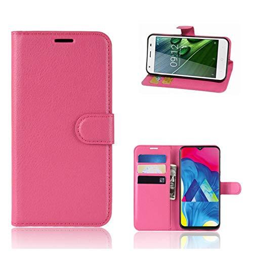 Ronsem Xiaomi Mi8 Youth / Mi8 Lite Hülle PU Leder Wallet Schutzhülle mit Kartenschlitz Flip Handyhülle für Xiaomi Mi8 Youth / Mi8 Lite - Rose