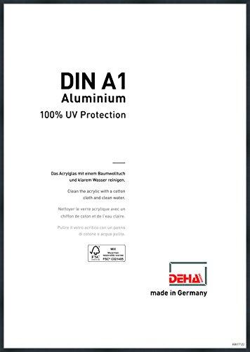 DEHA Aluminium Bilderrahmen Tribeca, 59,4x84,1 cm (A1), Struktur Schwarz Matt
