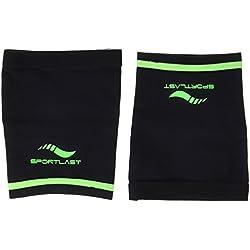 Sportlast Pro Muslera de Compresión, Negro / Verde, M
