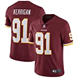 HFJLL Maillot de Football NFL Washington Redskins 91# T-Shirts