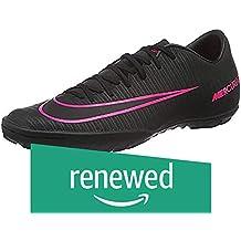 (Renewed) Nike Men's MercurialX Victory VI TF Black/Black/Pink Blast Turf Soccer Shoe 9 Men US