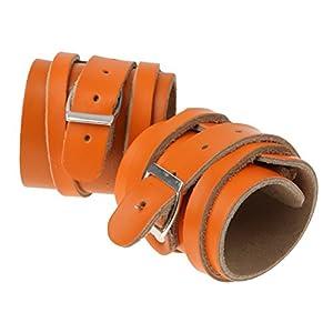 ROSENICE Gewichtheben Handgelenk Riemen Leder Manschette Armband Handgelenkbandage Unterstützung Hosenträger 1Paar