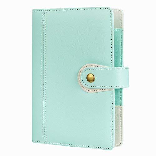 Persönlichen Organzier, Spirale Binder Notebook, harphia, Reisen Tagebuch, AGENDA Organizer, Größe 19x 14cm mit Druckknopfverschluss A6 7.48 x 5.51'' mintgrün