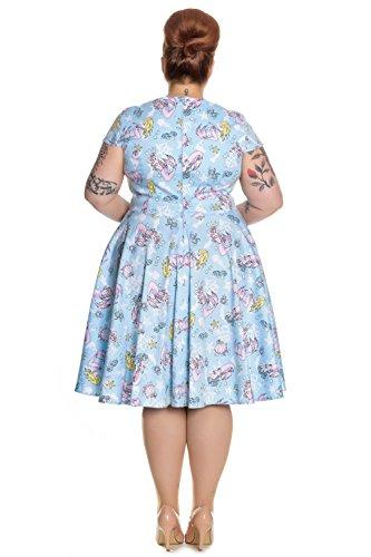 Hell Bunny - Robe - Manches Courtes - Femme Bleu