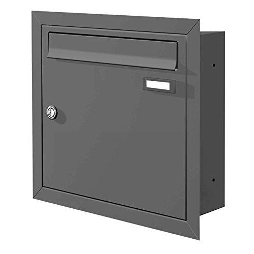 Max Knobloch Boîte à Lettres à encastrer (RAL 7016) 12L en gris