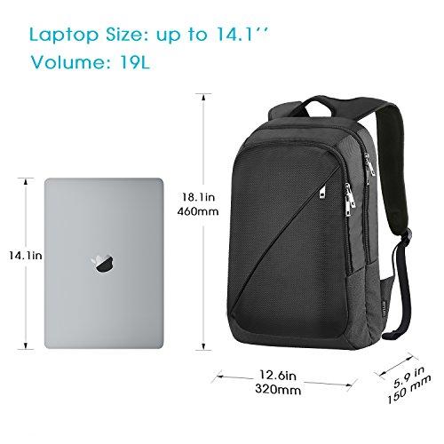 Imagen de reyleo  de portátil backpack impermeable para el laptop del negocio, trabajo, diario, ocio  19l negro alternativa