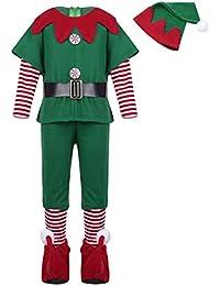 ebee90356 YiZYiF Disfraz Infantil para Navidad Unisex Niños Dsifraces de Elfo Traje  de árbol Vestido Top Blusa ...