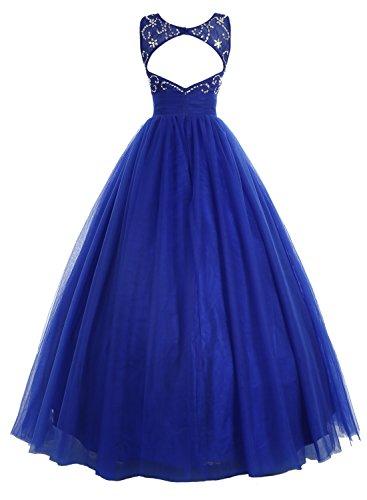 Bbonlinedress Robe de cérémonie Robe de bal en tulle forme marquise longueur ras du sol Blush