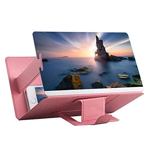 Dicke Top-tabelle (STARKWALL Universal Mobile Phone 3D Screen Hd Video-verstärker Magnifying Glass Stand Bracket Holder 2019 Top rosa)