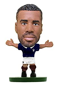 SoccerStarz SOC1027 - Figura del Equipo Nacional de Francia con Licencia Oficial de Alexandre Lacazette en Kit de Inicio