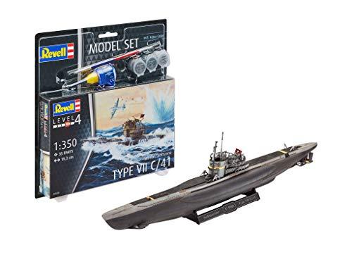 Revell 65154 Model Set German Submarine Type originalgetreuer Modellbausatz für Fortgeschrittene, mit Basis-Zubehör, Mehrfarbig, 1/93