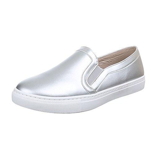 Ital-Design - Pantofole Donna Argento