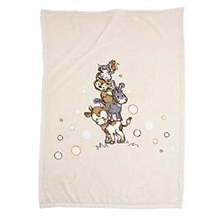 ALVI 931847496Microfibre Blanket Toy Pyramid, 75cm x 100cm beige