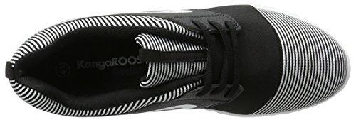 KangaROOS Unisex-Erwachsene Ele Low-Top Schwarz (Black/White)