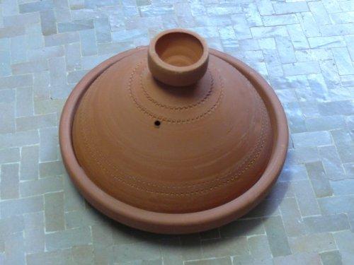 Marokkanische Tajine zum Kochen unglasiert Ø 25 cm für 2 Personen (Niedrigen Salz Kochen)