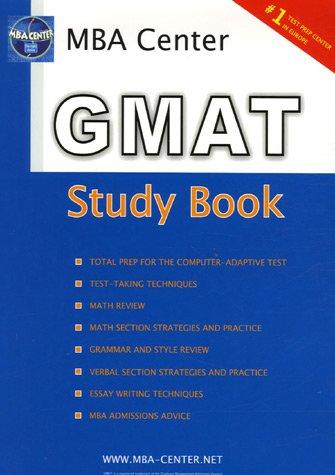 GMAT : Study Book MBA Center