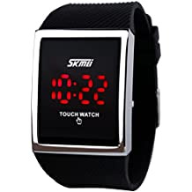 Skmei impermeable niños niñas Digital LED de pantalla táctil deporte Casual relojes de pulsera. Negro