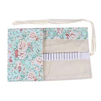 Toyvian 36 Slots – Estuche enrollable organizadores lavables bolsa para lápices almacenamiento Wrap bolsa soporte estilo étnico para grader niña pintura (rosa fresca)