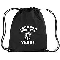T-Shirtshock - Zaino Zainetto Budget Gymsac TAM0074 karate kid get him a body bag dark tshirt