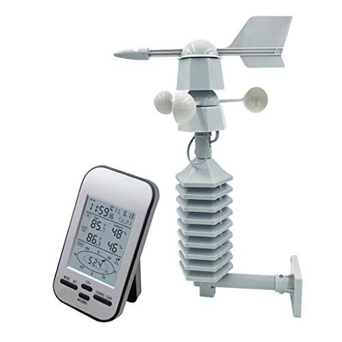 HomeDecTime Estación Meteorológica Inalámbrica Portátil 433MHz Con Alarmas, Sensor Meteorológico...
