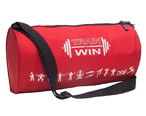 Casual Gym bag for Boys - Cosmus Fitwell 23L Medium Gym Duffle Bag - Sports bags for men (RED)  available at amazon for Rs.249