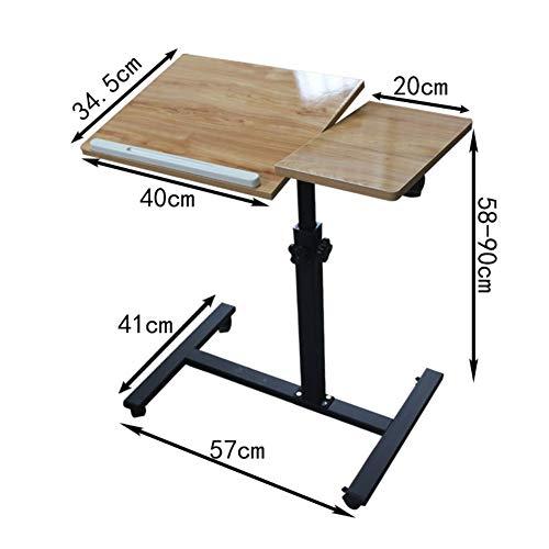 JiaQi Bewegliche Sofatisch,tilt Top Laptop-Schreibtisch Für Bett,höhenverstellbar Pc-Laptop-Tisch Lazy Table Zusammengesetzten Sofa Frühstückstablett-a 60x34x58cm(24x13x23inch) - Tilt Bett-tisch