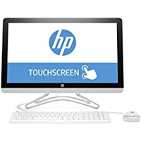 HP 24-e059ng 60,45 cm (23,8 Zoll Full HD-IPS Touchscreen) All-in-One Desktop PC (Intel Core i3-7100U, 8GB RAM, 256GB SSD, Windows 10 Home 64) weiß