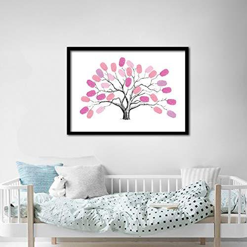 Wandaufkleber Fingerabdruck Anmelden Tree Doodle Dekoration Hochzeit Geburtstag Fingerabdruck Anmelden Tree 3 0 * 40Cm