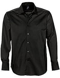 L633 Herren Stretch-Langarmhemd Brighton Oberhemd Herrenhemd Hemd