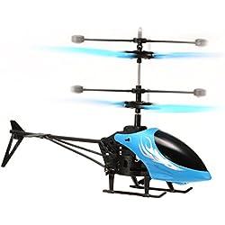FairOnly Mini Helicóptero Infrarrojo de Inducción de Juguete para Niños Muchachos y Muchachas Regalos Azul