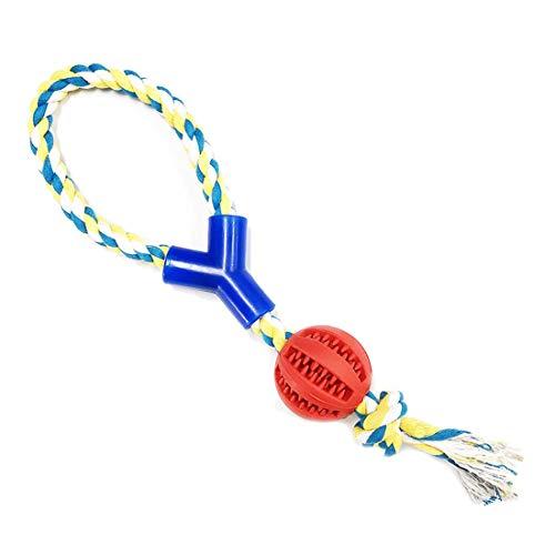 ZAQA-Hund Ball mit Schnur-Spielball für Hunde bissfest-Hundespielzeug Ball mit Schnur-Gummi-robust-Hundeball mit Seil-Hundeball große-Hundespielzeug Ballschleuder für kleine Hunde.