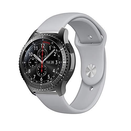 BarRan Vivoactive 3 Armband, Fantek Weich Silikon atmungsaktiv Sport Band Wasserdicht Alternative UhrenArmbandd Armbandd für Garmin Vivoactive 3 (Stone)