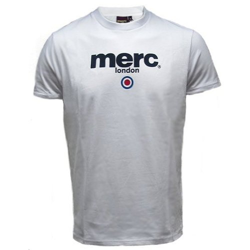 MERC London Target - Brighton-T-Shirt - 60er Jahre-Retro-Stil - Weiß - XX-Large